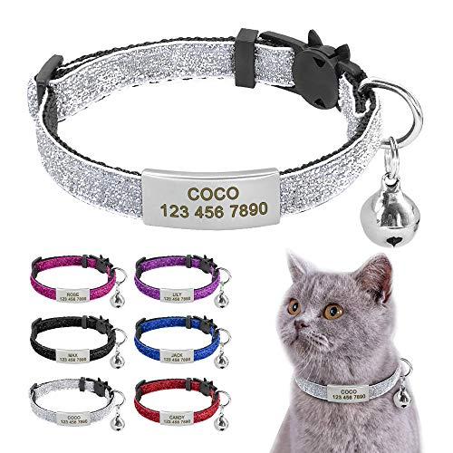 Beirui Collier pour chat avec étiquettes...