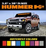 6 to 8 Year Outdoor Life - Size 3.2 inch by 38 inch Different Colors HUMMER H2 Windshield Banner Decal / Sticker / Emblem / Graphic