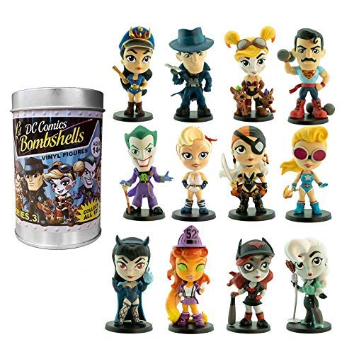 Cryptozoic Entertainment DC Lil Bombshells - Series 3 - 2.75' Vinyl Figures - 12 Unique Characters, 2 Rare Deco Variants - Designed by Pedro Astudillo and Sculpted by Sam Greenwell