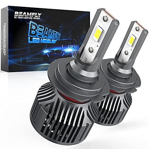 Lampade H7 LED 12000LM, BEAMFLY Lampadine Fari Auto Fendinebbia 80W 12V 6000K Bianco