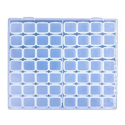 Mirrwin Perlas Caja de Clasificación Organizar Cajas de Almacenamiento de Diamantes Caja de Almacenamiento de Diamantes Ajustable Adecuado para el Acabado de Piezas Pequeñas de Joyas de Diamantes