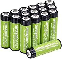 AmazonBasics AA Rechargeable Batteries (16-Pack) Pre-charged - Battery Packaging May Vary