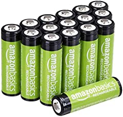One 16-pack of pre-charged AA rechargeable batteries (2000 mAh), ideal for digital cameras, remote controls, toys, and more Long battery life; extremely gradual self-discharge; maintains 80% capacity for 24 months Comes pre-charged and ready to use; ...