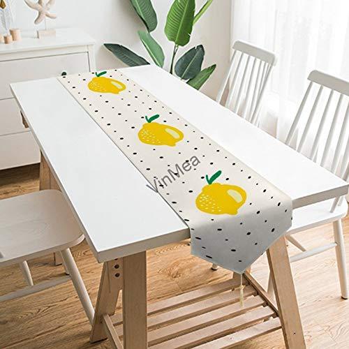 YY-one Camino de mesa estilo casa de campo limón con puntos de...
