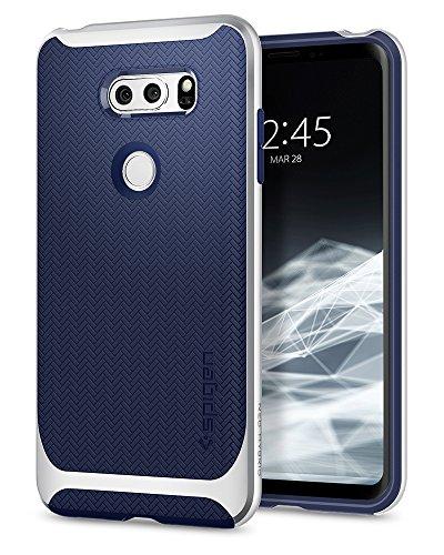 Spigen Neo Hybrid Designed for LG V30 / V30S / V30 Plus Case (2017) - Satin Silver