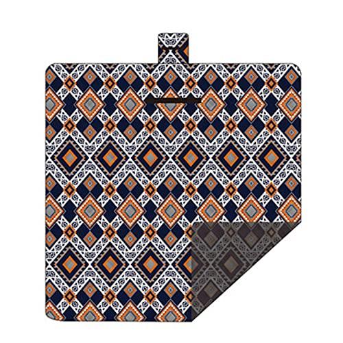 Tieguo Manta de picnic cuadrada impermeable a prueba de arena, práctica alfombra de playa para exteriores, se puede plegar en una bolsa, lavable a máquina, 2 x 2 m