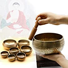 Katoot@ Copper Meditation Singing Bowl Tibetan Yoga Singing Bowl Himalayan Hand Hammered Chakra Meditation Massage Home Ornament 4 Sizes (10.5CM)