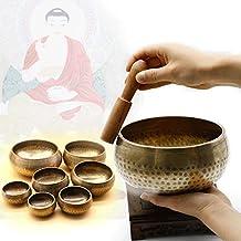 Katoot@ Copper Meditation Singing Bowl Tibetan Yoga Singing Bowl Himalayan Hand Hammered Chakra Meditation Massage Home Ornament 4 Sizes (10.5CM)