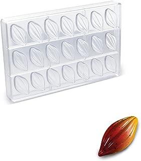 Martellato Polycarbonate Chocolate Mold, Cocoa Pod 52 Millimeters