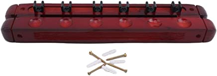 Clubs LWANFEI Wooden Billiard Cue Wall Rack,Pool Cue Clips Pool Cue Rack,Holds 6 Cues,Billiard Accessories for Homes