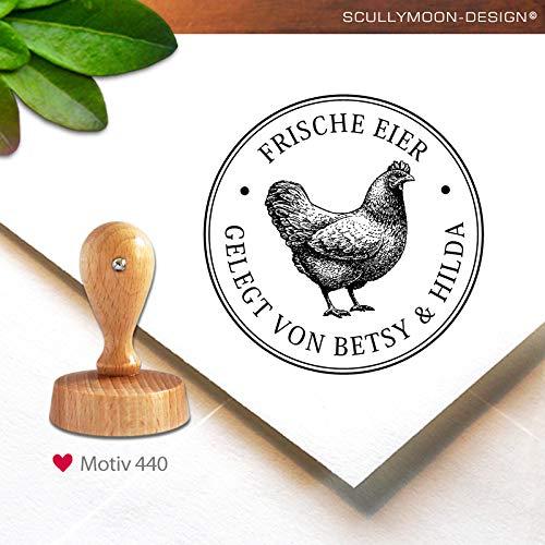 Stempel (440) ♥ personalisiert | rund, 4,0 cm | Adress-Stempel | Eier Stempel | Stempel mit Adresse oder Name | custom stamp ♥ Scullymoon