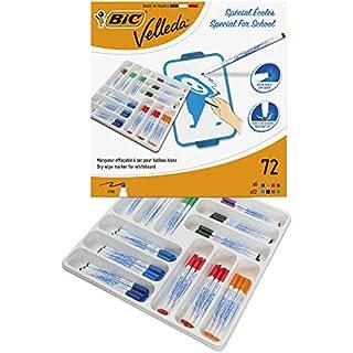 BIC Velleda 1721 Whiteboard Marker Fine Bullet Nib - Assorted Colours, Classpack of 72 Whiteboard Markers Set School Supplies (B0026IXN62) | Amazon price tracker / tracking, Amazon price history charts, Amazon price watches, Amazon price drop alerts