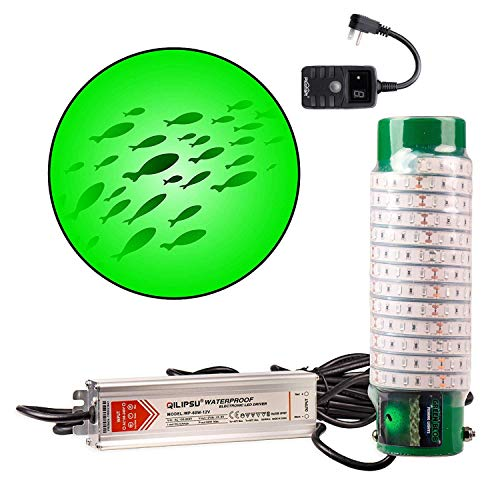 Green Blob Outdoors Underwater Fishing Light, LED with Timer 7500/15000/30000 Lumen Fish Attracting Light, Snook (7500 50ft Cord)