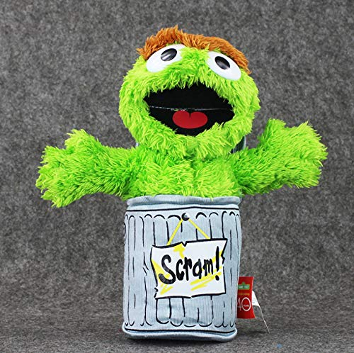 MMTY Sesame Street Trash Can Green Plush Toys Boys and Girls Doll Soft Stuffed Collection Toys 27Cm