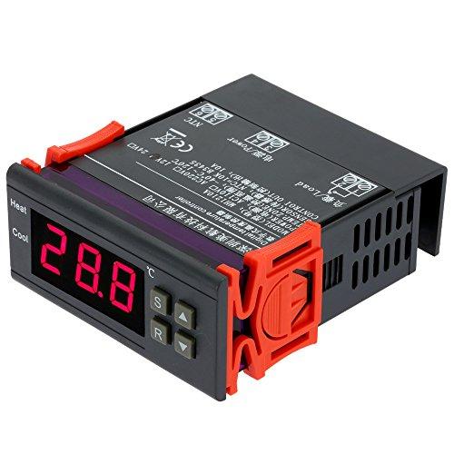 10A 12V digitale temperatuurregelaar, thermo-element, -40 °C tot 120 °C met sensor, voor in huis vriezer, watertank, koelkast, industriële koeler, waterkoker, stoompan