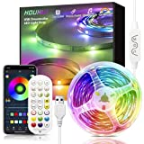 Dream Color LED Strip Lights, 32.8Ft App Control Rgbic Light Strips with Chasing Multicolor Effect & Remote, USB Powered Music Sync 5050 Rainbow LED Lights for Bedroom Home Dorm Bar Party Decoration