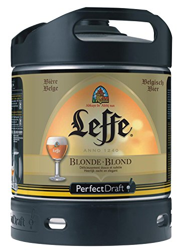 4x Leffe Blonde cerveza de Bélgica Perfect Draft 6 litros barril 6,6 % vol