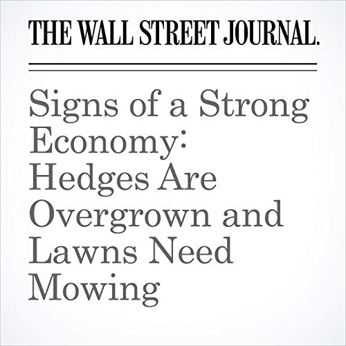 Signs of a Strong Economy: Hedges Are Overgrown and Lawns Need Mowing copertina
