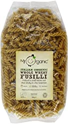 High in dietary fibre Stronger, nuttier flavour Authentic Italian Made with 100% italian organic durum wheat flour Dried slowly to protect nutritional qualities
