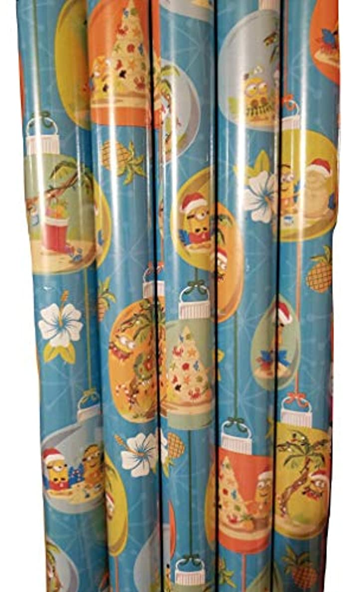 Despicable Me Minions Beach Christmas Theme Gift Wrap - Minions - Wrapping Paper 20 sq ft. (1 Roll)