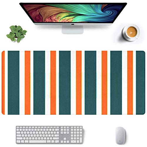 Extra Large Rectangle Mousepad 35.4×15.75inch Extended Large Gaming Mouse Pad Non-Slip Water-Resistant Rubber Cloth Computer Game Mouse Mat, Abstract Vector Geometric Seamless Pattern Vertical