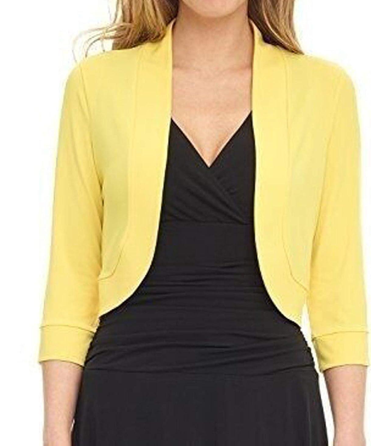 aoliaoyudongyongpin Half Sleeve Slim Cardigan Short Blazer Jackets Female Outwear Blasers Plus Size S-5XL