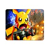 WINTERSUNNY Anime Pokemon Mouse Pad Non-Slip Rubber Base Waterproof for Office Computer Mouse Mat Pikachu Mouse Pad 8.7x7.1x0.12 Inches