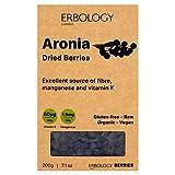 Bayas Secas de Aronia Bio 200g - Fuente de Fibra, Manganeso, Vitamina K y Antocianinas
