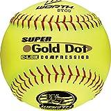 Worth WSL Slow-Pitch Pro Comp Super Dot Soft Balls, 12' (Dozen)