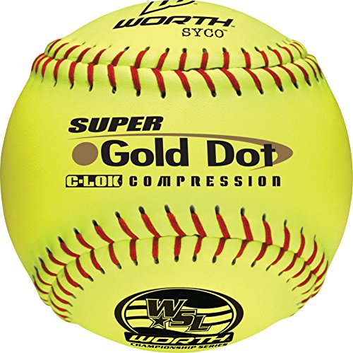 "Worth WSL Slow-Pitch Pro Comp Super Dot Soft Balls, 12"" (Dozen)"