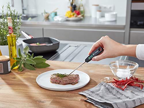 Leifheit Thermomètre de cuisine universel digital, sonde alimentaire jusqu'à 0,1°C de précision, thermomètre digital compact, ustensiles de cuisine