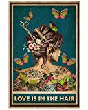 AZSTEEL Hairdresser Love is In The Hair | Poster No Frame