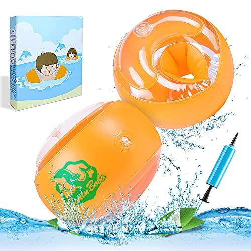Schwimmflügel Kinder,Schwimmhilfe für Kleinkinder Schwimmflügel Rund Schwimmhilfe für Anfänger,Schwimmring für 3-14 Jahre Jungen Mädchen,Armumfang 26-29cm,Empfohlenes Gewicht 19-40kg