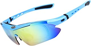 OPEL-R Gafas Ciclismo Motocross Anti-UV400 Gafas De Sol Polarizadas 5 Lentes para MTB Correr, Pescar, Conducir, Deportes Al Aire Libre