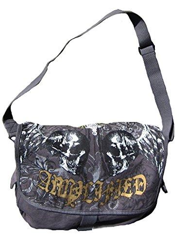 Amplified Tasche Anthrazit Holly Skull Schultertasche