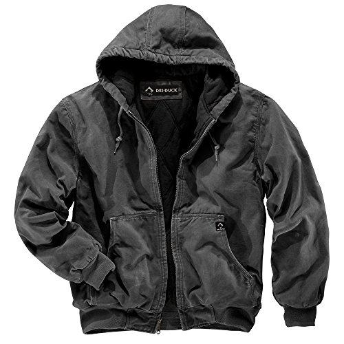 DRI Duck Herren 5020 Cheyenne Arbeitsjacke mit Kapuze, Anthrazit, Größe XL