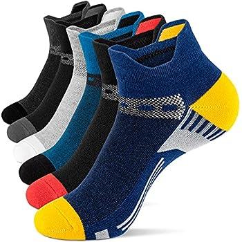 Onmaita Ankle Socks for Men Cotton Low Cut Athletic Tab Socks for Men Sport Comfort Sock 6 Pairs 9-11