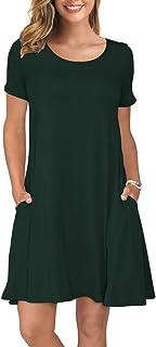 7e8806386b7 KORSIS Women's Summer Casual T Shirt Dresses Short Sleeve Swing Dress with  Pockets