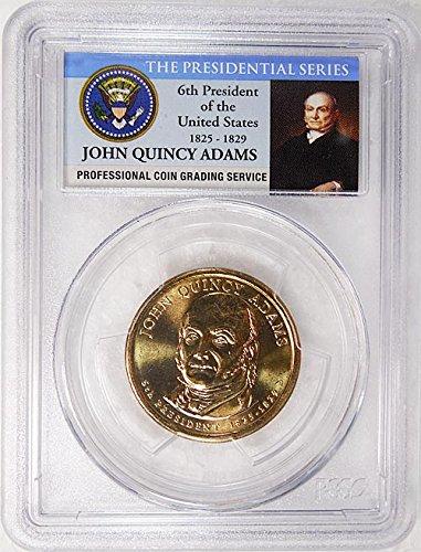 2008 P Pos. A John Quincy Adams Presidential Dollar PCGS MS 66...