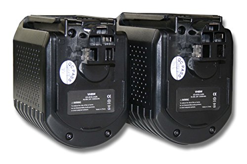 vhbw 2x batería Ni-MH 3000mAh (24V) para herramienta GBH 24VFR, GBH 24VR,...
