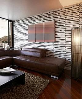 Easy Peel & Stick, Durable Plastic Textured Decorative 3D Wall Panel - LAVA Design. 12 Panels. 32 SF