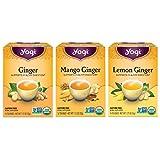 Yogi Tea - Ginger Tea Variety Pack Sampler (3 Pack) - Includes Ginger, Mango Ginger, and Lemon...