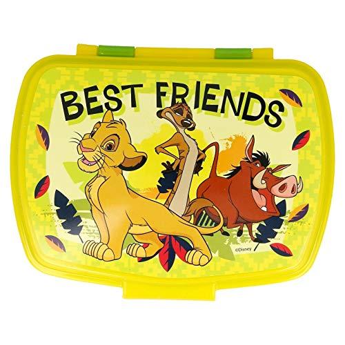 ALMACENESADAN 2634; Sandwichera Rectangular Multicolor Disney Rey león; Producto de plástico, Libre BPA; Dimensiones Interiores 16,5x11,5x5,5 cm