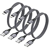 Câble iPhone Chargeur iPhone [1.2M/Lot de 4] RAVIAD Câble Lightning Nylon Tressé Câble Charge Rapide pour iPhone 11/11 Pro/ 11 Pro Max, XS Max/XS/XR/X, 8/ 8Plus, 7/ 7Plus