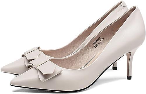 zapatos De Tacón Alto De Moda De damas negro zapatos De Salón De Boda Atractivo,Beige-8.8cm-EU 37 UK 4.5