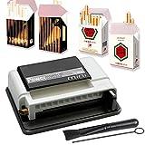 Powermatic Mini Plus Zigarettenstopfmaschine inkl. 1x Zigarettenschachtel-Hülle Stopfmaschine der Extraklasse + Zubehör - Zigarettenstopfer/Zigarettenmaschine (White)