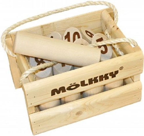 Molkky - Wooden Pin & Skittles Game - Outdoor Fun - For...