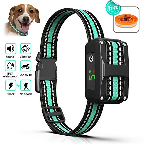 BALALAHTEK Dog Bark Collar Rechargeable Anti bark Collar-Waterproof Beep Vibration and No Harm Shock Smart Detection Module Bark Stopper for Small Medium Large Dog