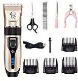 <span class='highlight'><span class='highlight'>Aoweika</span></span> Dog Grooming Clippers - Professional Rechargeable Cordless Pet Trimmer Kit Ultra Quiet Electric Hair Shaver for Thick Hair Cat Rabbit Horse