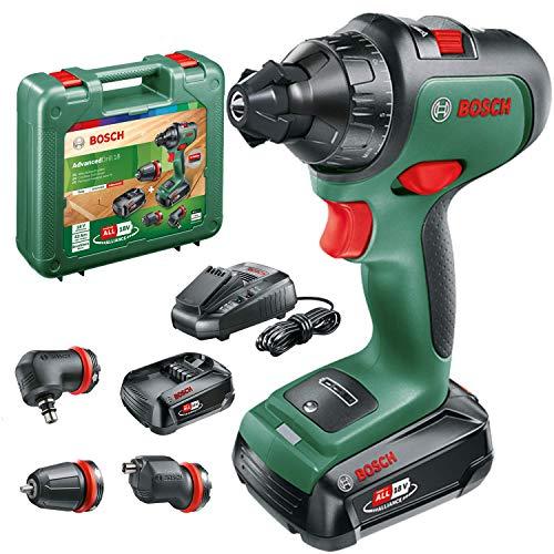 Bosch taladro/ atornillador a batería AdvancedDrill 18 Set (2 baterías, sistema de 18 voltios, 3 accesorios, en maletín de transporte)